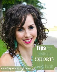 Try-it Tuesday: How to Style {Short} Curly Hair Maybe this will come in handy if I ever cut my hair :P
