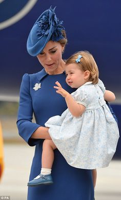 Duches Catherine and Princess Charlotte