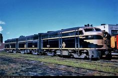 A 3-unit set of Erie Railroad Alco FA1's waiting for their next assignment.