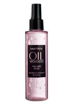 Ihr Produktanzeiger MATRIX Oil Wonders Volume Rose Pre-Shampoo Treatment - 125 ml: Category: Haare Item number: 9155554 Price: EUR… Matrix Oil Wonders, Pre Shampoo, Styling Tools, Hair Tools, Fine Hair, Eyeliner, Fiber, Conditioner, Perfume Bottles