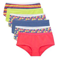 Fruit of the Loom Women's Boyshort 6-Pack (Colors May Vary) - 8, Multicolored