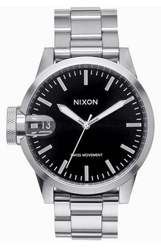 Nixon 'The Chronicle' Bracelet Watch, 44mm available at #Nordstrom