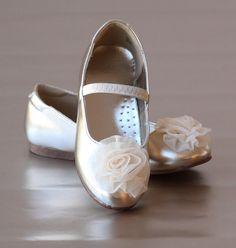 L'Amour Girls Organza Rose Flats – Petit Foot