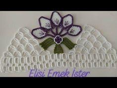 Example of New Dowry Towel Edge with Crochet Lace Crochet Pouch, Crochet Cross, Cute Crochet, Easy Crochet, Crochet Lace, Crochet Waistcoat, Pouch Pattern, Viking Tattoo Design, Sunflower Tattoo Design