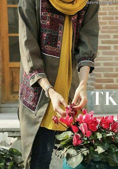Stylish Dress Designs, Stylish Dresses, Nice Dresses, Casual Dresses, Abaya Fashion, Muslim Fashion, Fashion Dresses, Trousers Women Outfit, Iranian Women Fashion