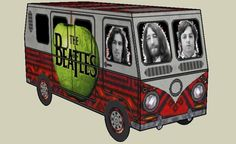 Rock`n`Roll Circus - The Beatles Kombi - Abbey Road Years - by Papermau - Download Now!        Here is The Beatles Kombi, Abbey Road Years, a very easy-to-build paper model for all fans of the Fab four.