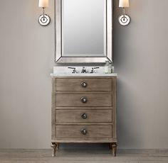 Powder room vanity | Maison Powder Room Vanity Sink | Single | Restoration Hardware