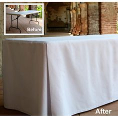 Macel & Company Eva Basic 30x72-inch Rectangular Fitted tablecloth( dresses up that folding table nicely)