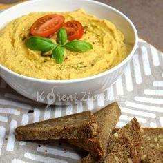 Vychutnejte si oblíbený arabský hummus tak trochu jinak. S vůní itálie a léta. Domácí rajčatový hummus s bazalkou si zamilujete na první ochutnání. Hummus, Tahini, Mashed Potatoes, Ethnic Recipes, Food, Homemade Hummus, Smash Potatoes, Meals, Yemek