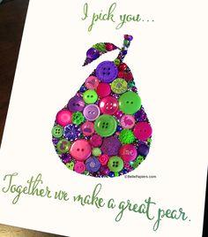 Adorable button pear