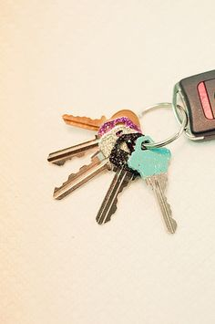 Cute and girly way to tell your keys apart!