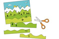 Schneideübungen zur Entwicklung der Schneidefähigkeit. Im Gegensatz zu vielen anderen Schneideübungen haben diese einen tieferen Sinn: Die Kinder schneiden Streifen von Horizontlinien verschiedener Landschaften mit ihren natürlichen Höhen und Tiefen und kleben sie zu spannenden Streifenbildern zusammen. Landschaftsformationen wie Gebirge, Prärie, Savanne, Arktis, Wüste und Meer bilden Wellen, Zacken und Linien in unendlichen Variationen und sind wie geschaffen für solche Schneideübungen.