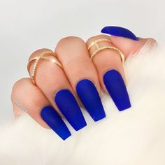 Royal Blue Coffin Nails Projects To Try Pinterest Blue Coffin