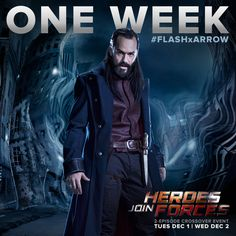 Casper Crump unleashes a menacing glare as Vandal Savage in new Flash/Arrow crossover still. The crossover episode leads into Legends of Tomorrow, which will premiere on The CW, on January What do you think is Savage's end game? The Flash 2, The Flash Season 2, Dc Comics Heroes, Dc Comics Characters, The Cw, Arrow Flash, Series Dc, Vandal Savage, Crossover Episodes