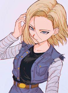 Dbz Characters, Fairy Tail Girls, Android 18, Dragon Ball Gt, Fanarts Anime, Cultura Pop, Cute Anime Character, Anime Comics, Anime Art Girl