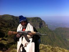 A scout in the Simien mountains