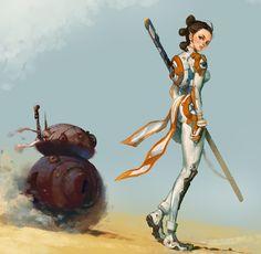 Star Wars Fanart, Kim Junghun on ArtStation at https://www.artstation.com/artwork/3bzlY