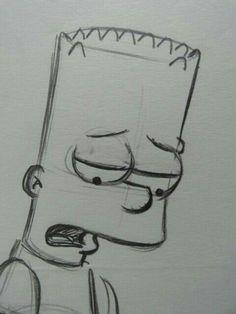 Matt Groening – Simpsons – Beard – Original drawing – Catawiki # art ideas – Informations About Matt Groening – Simpsons – Bart. Sad Drawings, Dark Art Drawings, Art Drawings Sketches Simple, Pencil Art Drawings, Drawing Faces, Drawings Of Sadness, Drawings With Meaning, Pencil Sketches Easy, Disney Drawings Sketches