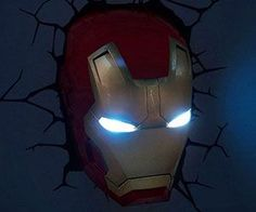 Iron Man 3D Lamp - http://tiwib.co/iron-man-3d-lamp/ #LightsClocks