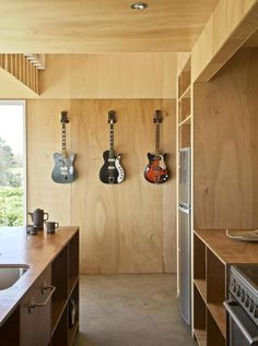 McKenzie House, a musician's bachelor pad byAtelierworkshop, Hawkes Bay, New Zealand