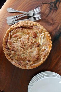 A simple recipe for a French Style Apple Rhubarb Pie that is perfect for Thanksgiving.