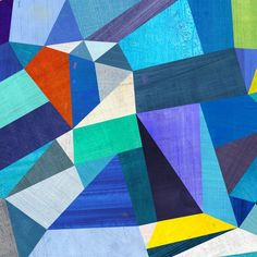 Blue Geometric Print by twoems on Etsy