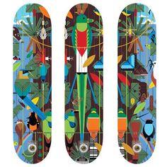Charley harper board series from Habitat Skateboards.