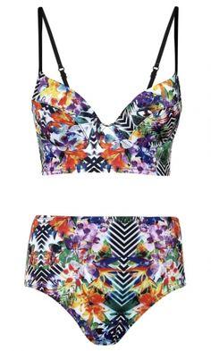 Primark tropical print bikini, 2013