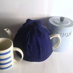 Navy Blue Tea Cosy  Made to Order by thesequinnedsheep on Etsy