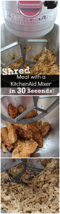 Shred Meat with a KitchenAid Mixer in 30 Seconds!
