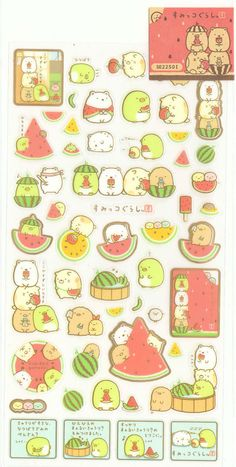 Kawaii Japan Sticker Sheet Assort: Sumikko Gurashi Character Summer 2