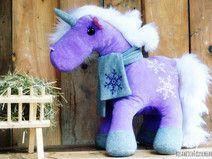#unicorn #Einhorn #snowflakes