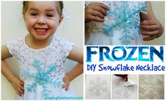 DIY 'Frozen' Necklace…this very easy craft will have your little Elsa and/or Anna lover very happy!