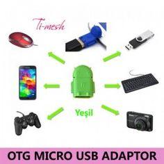Ti-mesh Micro USB Robot OTG Adaptör - Yeşil