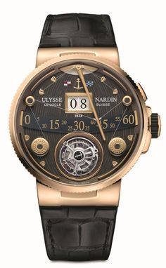 TimeZone : Industry News » N E W M o d e l - Ulysse Nardin Marine Grand Deck Tourbillon Rose Gold