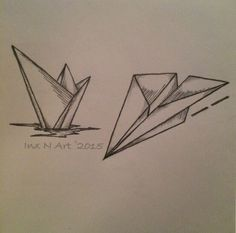 Paper Boat / Plane tattoo sketches by - Ranz