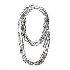 @gicreazioni Scarf necklace #recycleyourtshirt #etsy #blue #necklace #scarves #handmadejewelry #handmade