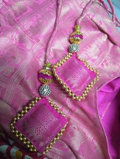 Saree Tassels Designs, Saree Kuchu Designs, Saree Blouse Neck Designs, Fancy Blouse Designs, Dress Neck Designs, Bridal Blouse Designs, Kurta Neck Design, Indiana, Suit