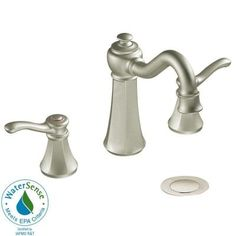 MOEN Vestige 8 in. Widespread 2-Handle High-Arc Bathroom Faucet Trim Kit in Brushed Nickel-T6305BN at The Home Depot