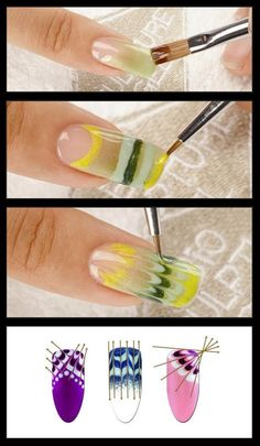Pretty as a Peacock Nails Tutorial--don't know if I could ever do it, but they sure are pretty.