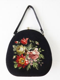 Hey, I found this really awesome Etsy listing at https://www.etsy.com/listing/203889076/vintage-60s-needlepoint-purse-handbag