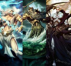 Zeus, Poseidon e Hades