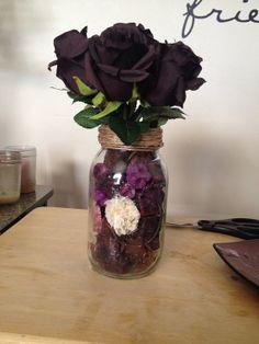 Decorative mason jar by LovelyVines on Etsy, $20.00