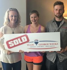 Congratulations to Adam & Corrin B. on the sale of their house with #TeamGeorgeWeeks & Shannon Orrand! #Sold #GoodNewsTuesday