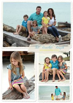 Prefer the bright colors for beach family photo.