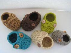 crochet booties - Double Strap Baby Booties