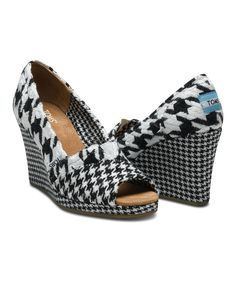 Take a look at this Scottish Houndstooth Wedge - Women on zulily today!