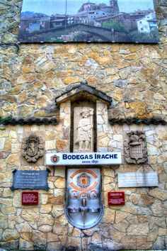 Bodegas Irache, S.L. is a winery founded in 1891, and located in Ayegui (Navarre, Spain). On one of the walls facing the Pilgrims´ Way to Santiago, Bodegas Irache has a Wine Fountain, so that pilgrims can serve themselves a free glass of wine to spur them on their way.
