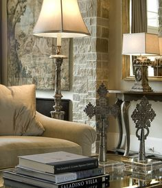 A modern touch of African Decor with Ethiopian Silver Crosses on the table Interior Decorating, Interior Design, Decorating Ideas, Decor Ideas, Interior Exterior, Home Accents, Great Rooms, Home And Living, Home Furniture