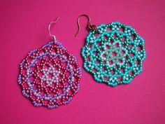 orecchini di perline di Mandala. la vostra scelta di di BohemEden